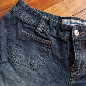 Anchor Blue Dark Wash Shorts